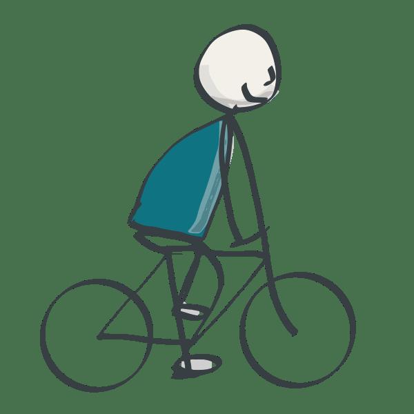 Fahrrad mit Mensch