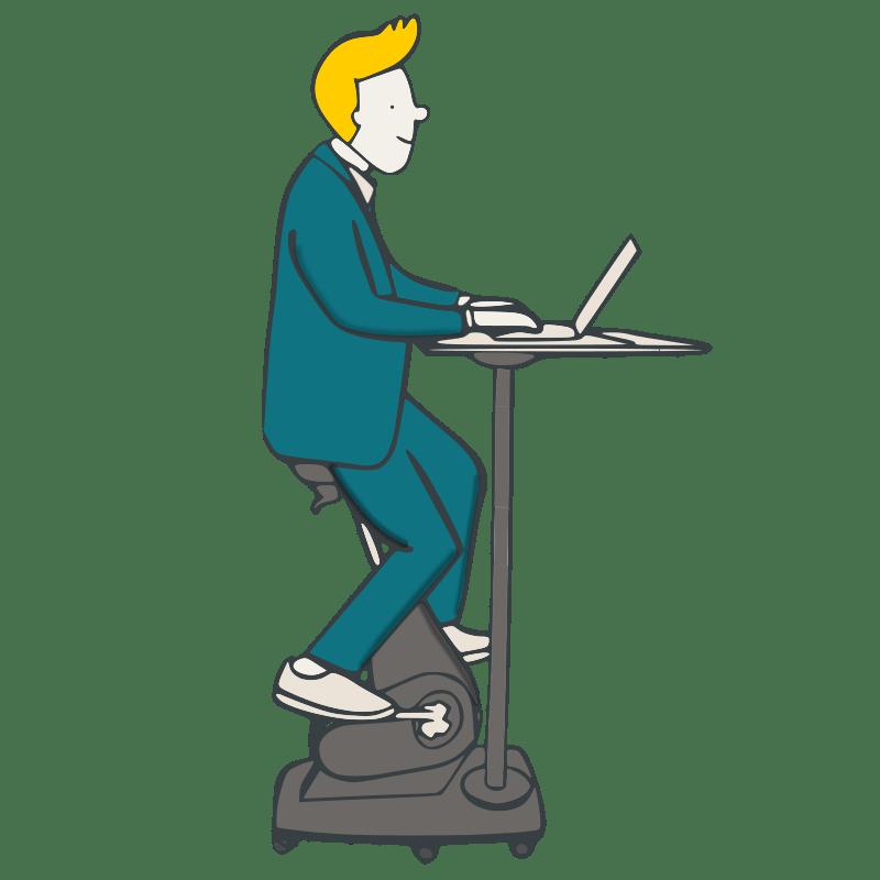 FitSeat Workstation Skizze